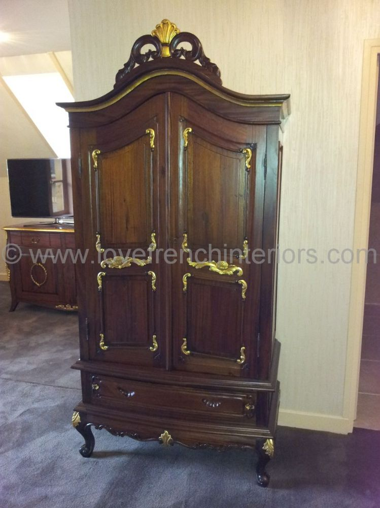 Louis Bespoke French Mahogany Armoire
